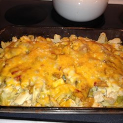 Cheesy and Creamy Chicken Tetrazzini Recipe