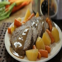 Slow Cooker Apple Cider Pot Roast Recipe