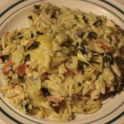 Orzo with Chicken and Artichokes Recipe