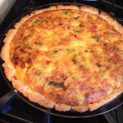 Green Chile Spinach Quiche Recipe