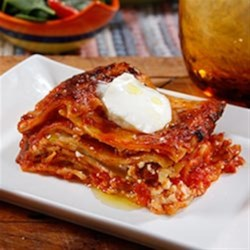 Wavy Lasagna with Italian Sausage and Marinara Sauce Recipe