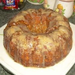 Butterscotch Banana Bread Topped With Banana Glaze