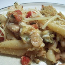Pasta and White Beans Gratin