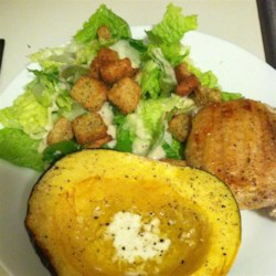 Garlic Butter Acorn Squash Recipe