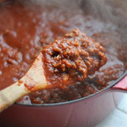 Kicked Up Sausage Meat Sauce