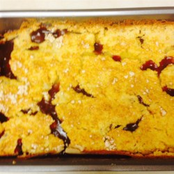 Easy Fruit Cobbler Cake Recipe
