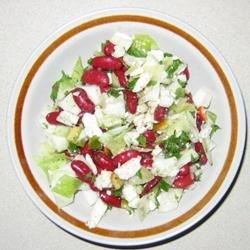 Red Bean Salad with Feta and Peppers