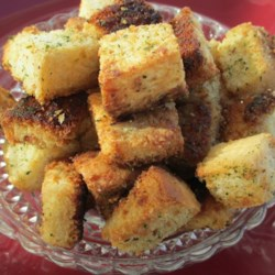 Garlic-Parmesan Croutons Recipe