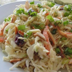 Honey Dijon Mustard and Poppy Seed Coleslaw with Cranberries and Toasted Almonds Recipe