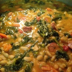 Cannellini Bean with Flat Leaf Kale Recipe