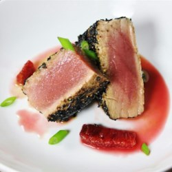 Pan-Seared Ahi Tuna with Blood Orange Sauce Recipe