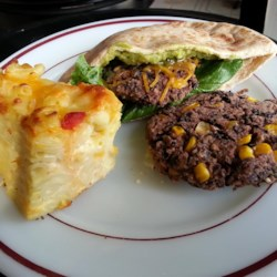 Spicy Black Bean and Corn Burgers Recipe