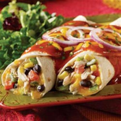 Fiesta Chicken and Black Bean Enchiladas from Mission(R) Recipe