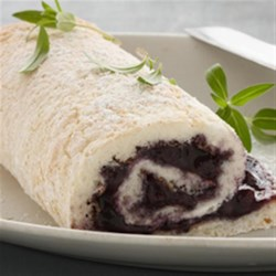 Blueberry Angel Food Cake Rolls