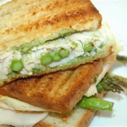 Grilled Turkey Asparagus Pesto Paninis Recipe