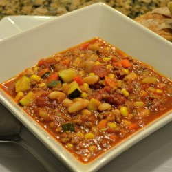 Very Veggie and Beef Chili Recipe