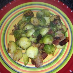 Sauteed Brussels Sprouts with Bacon and Onions Recipe