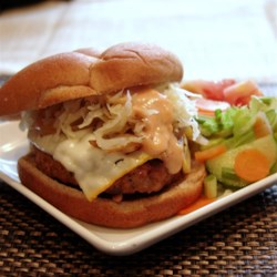 Turkey Reuben Burgers