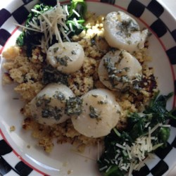 Scallops with Israeli Couscous Recipe