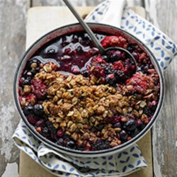 Fresh Fruit and Berry Crumble Recipe