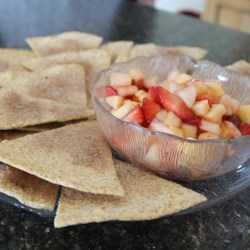 Healthier Annie's Fruit Salsa and Cinnamon Chips