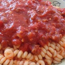 Chunky Red Sauce with Ground Italian Sausage Recipe