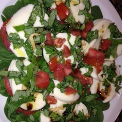 Spinach Caprese Salad Recipe