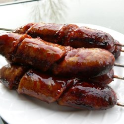 Curly-Q Grilled Sausages  Recipe