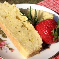 Rosemary Orange Pound Cake Recipe
