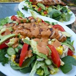 amys barbecue chicken salad printer friendly