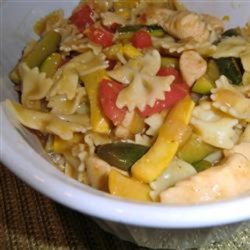 Lemon Pepper Pasta with Chicken and Vegetables Recipe