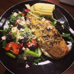 Balsamic Goat Cheese Stuffed Chicken Breasts Recipe