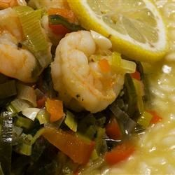 Shrimp, Leek and Spinach Risotto