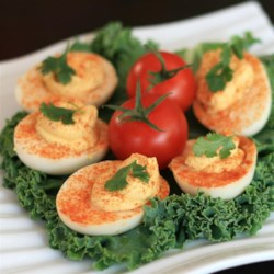 Quick Salmon Deviled Eggs Recipe