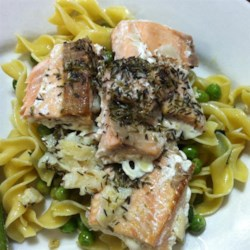 Thyme Salmon with Sage Pasta Recipe