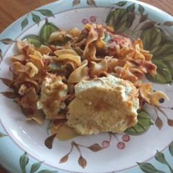 Layered Egg Noodle Bake Recipe