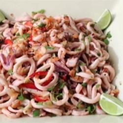 Coconut Calamari Salad