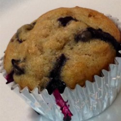 Banana Blueberry Muffins with Lavender |