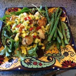 Seared Scallops with Tropical Salsa Recipe - Allrecipes.com