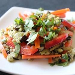 Baked Eggplant Salad Recipe