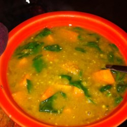 Indian Sweet Potato and Lentil Soup Recipe
