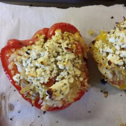 Nick's Feta and Artichoke Stuffed Peppers Recipe