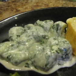 Spinach Gnocchi with Gorgonzola Cream Sauce Recipe
