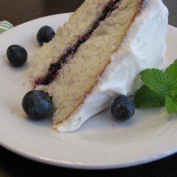 how to make vanilla blueberry cake with box mix