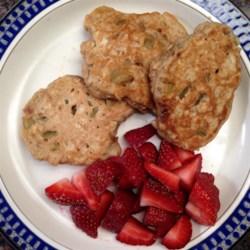 Oatmeal Rhubarb Pancakes Recipe