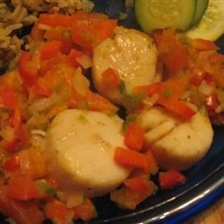 Seared Scallops with Spicy Papaya Sauce Recipe