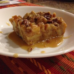 Bread Pudding with Praline Sauce
