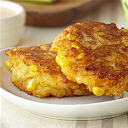 Crab and Corn Cakes with Roasted Pepper-Yogurt Aioli Recipe
