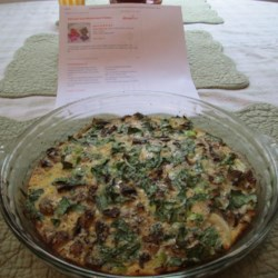 Spinach and Mushroom Frittata Recipe