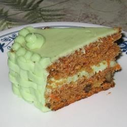 Carrot Cakes with Pistachio Pudding Frosting